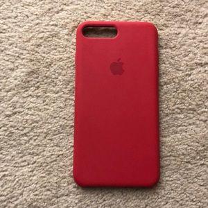 iPhone 7/8 plus red silicone case